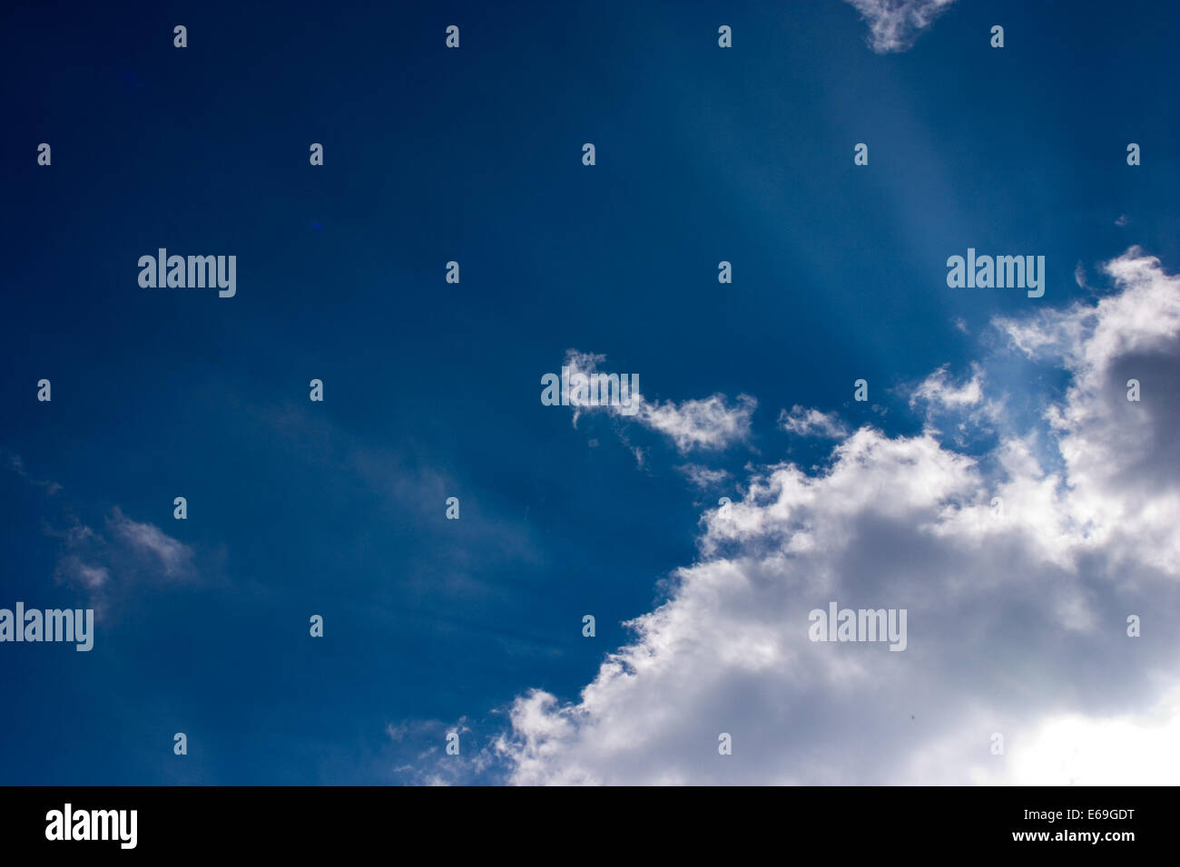 sky only,infinity - Stock Image