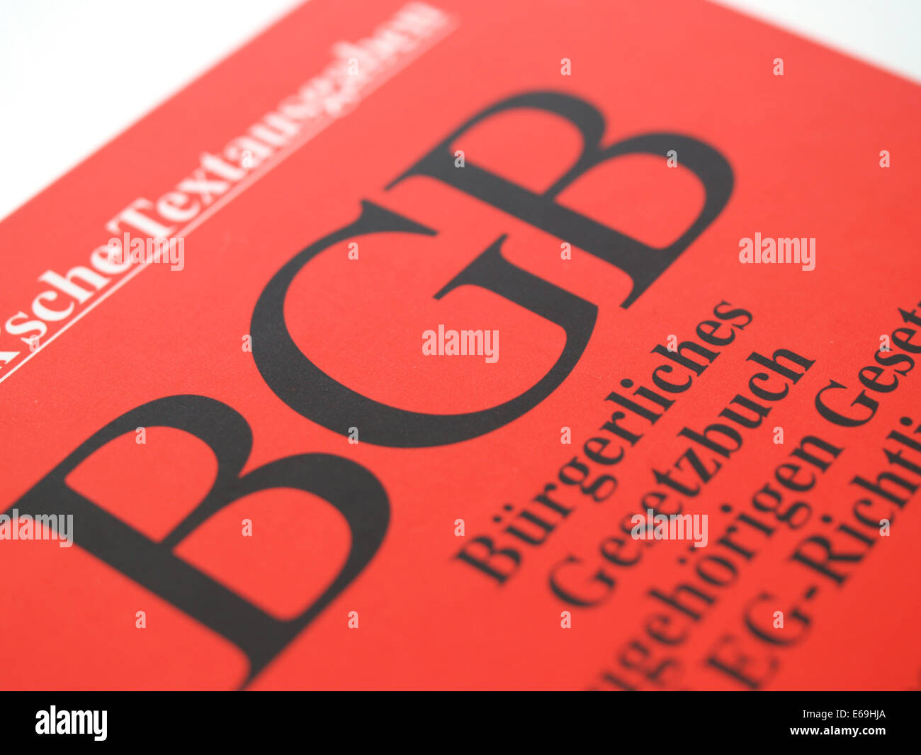 bgb,code,book cover - Stock Image