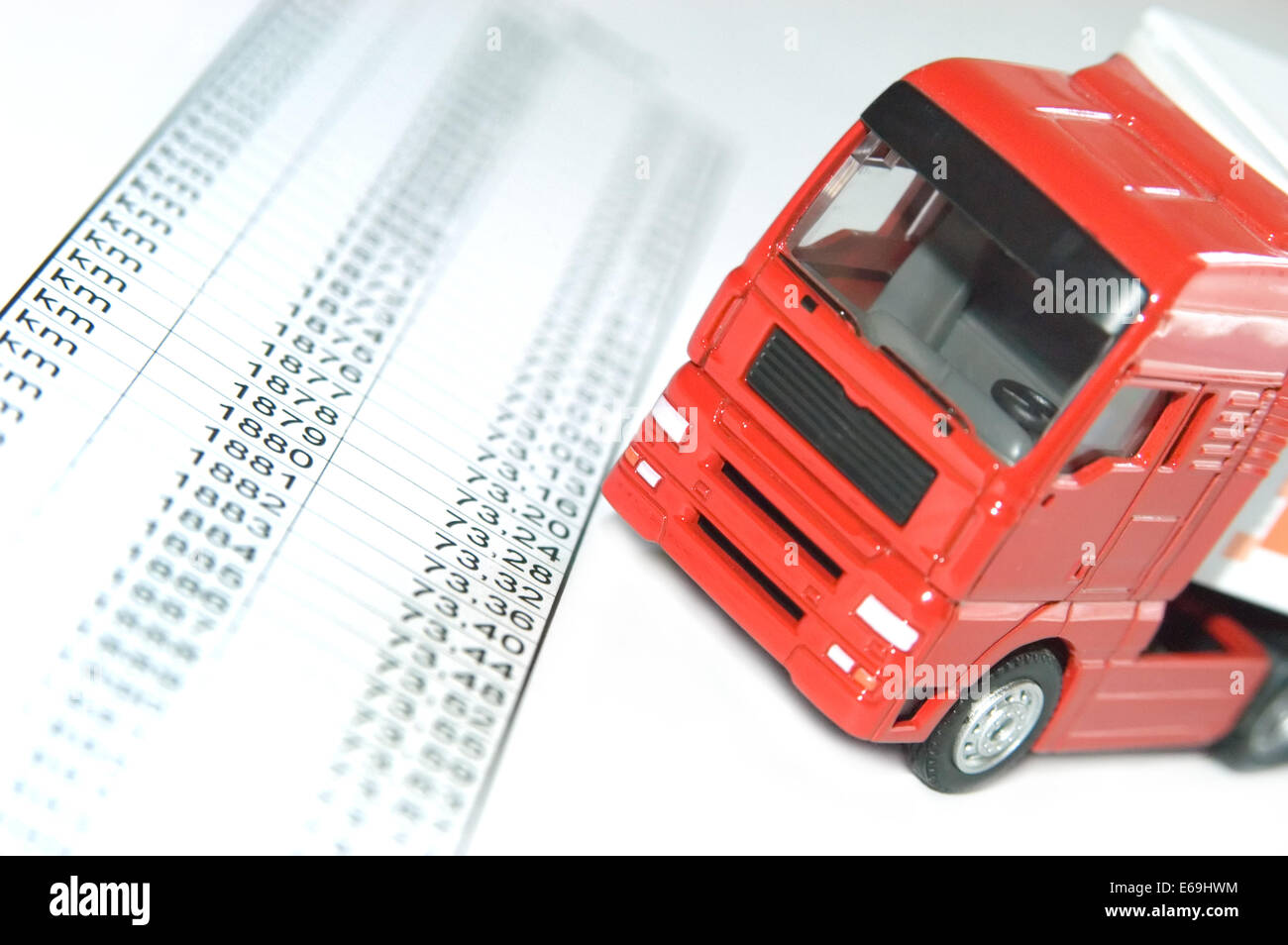 toll,truck toll - Stock Image