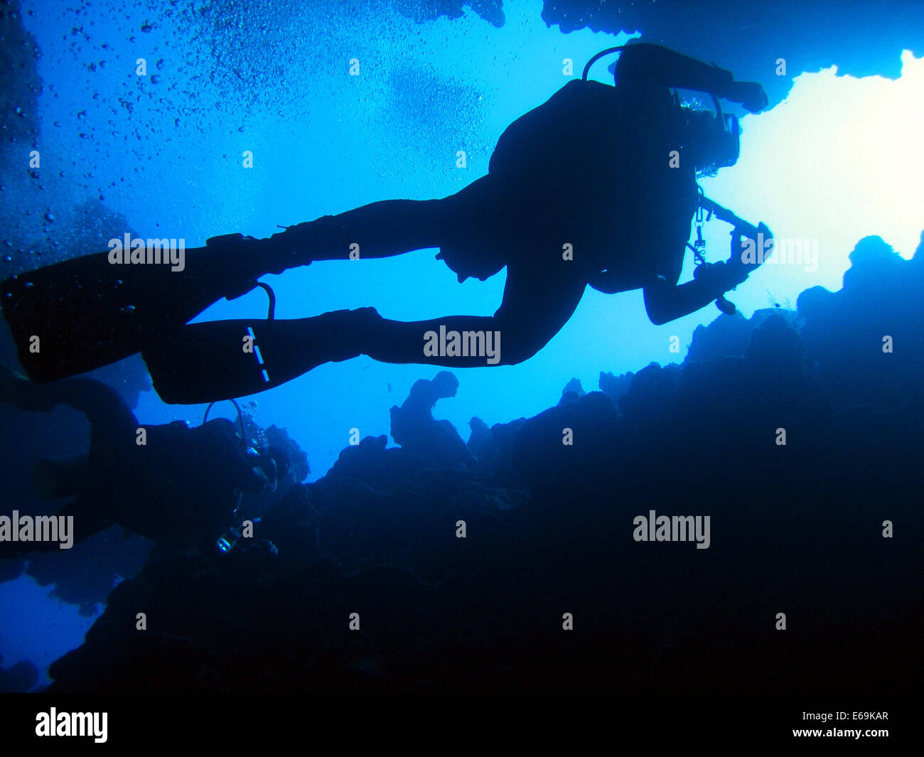 underwater,diver,diving - Stock Image