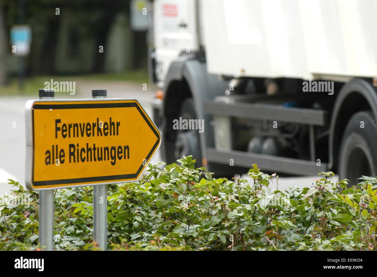 footpath sign,truck toll,mainline - Stock Image