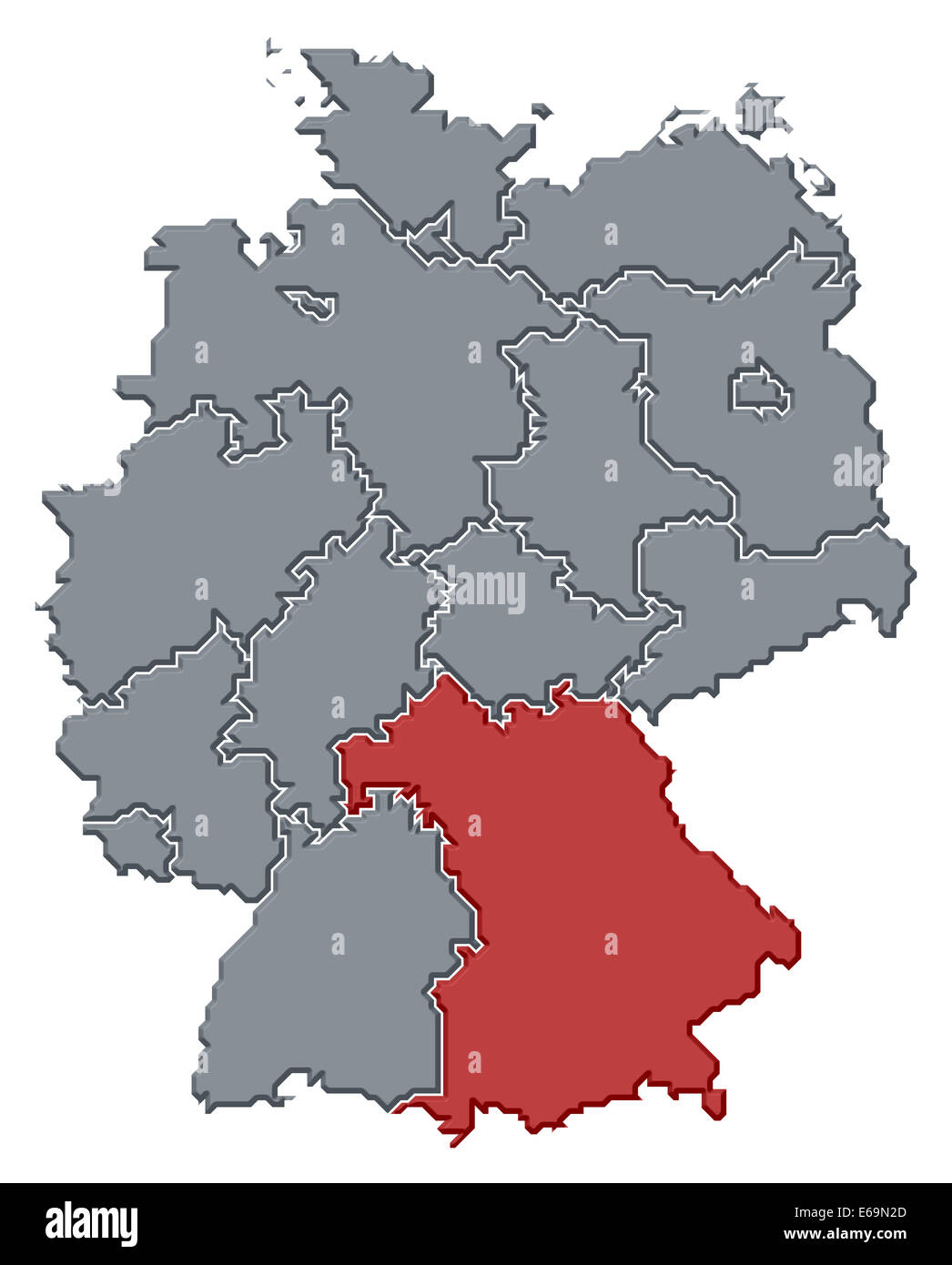 Germany Bavaria Germany Map Stock Photo 72743509 Alamy