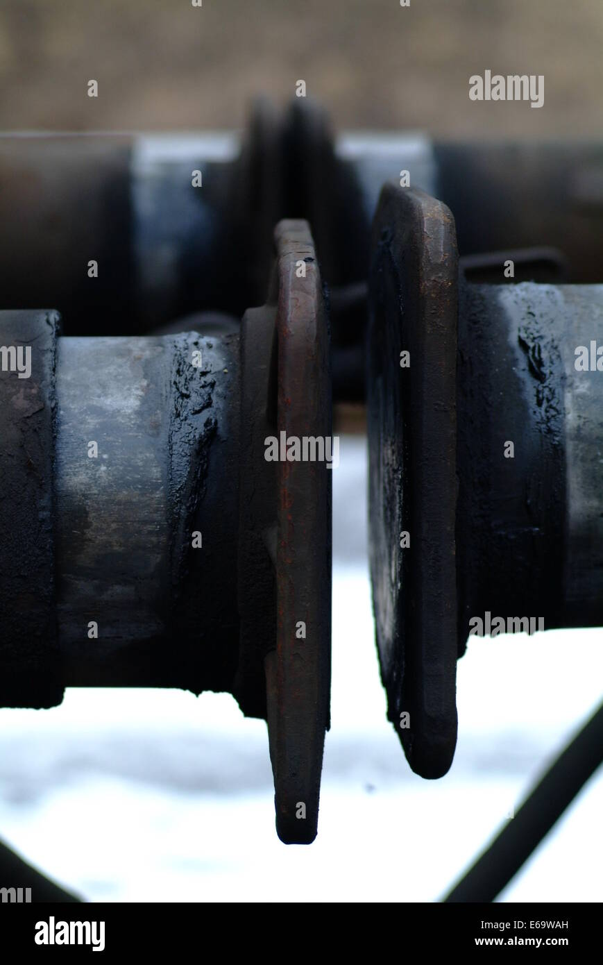 rail,connection,shock absorber - Stock Image