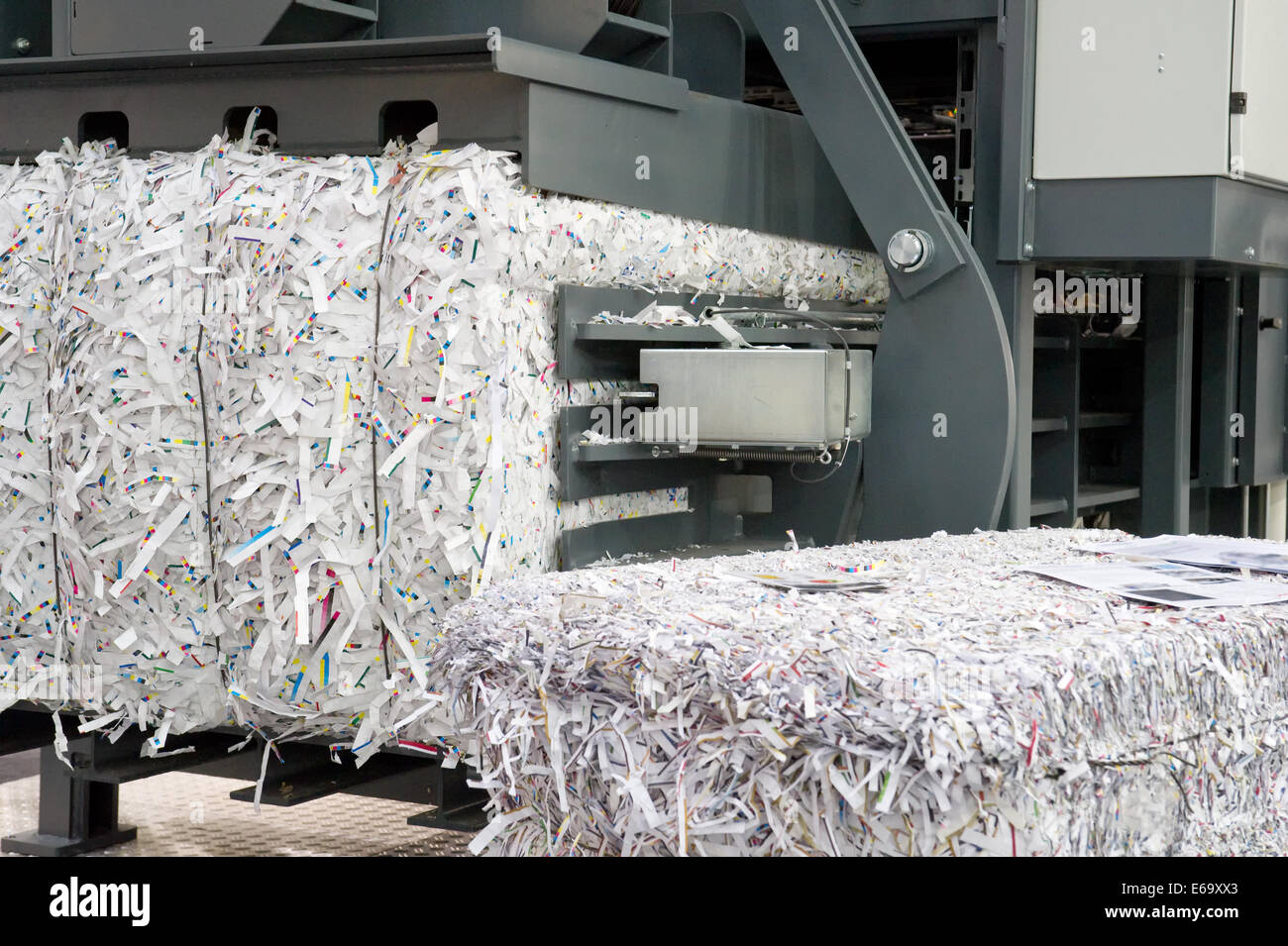 recycling,paper,paper scraps - Stock Image