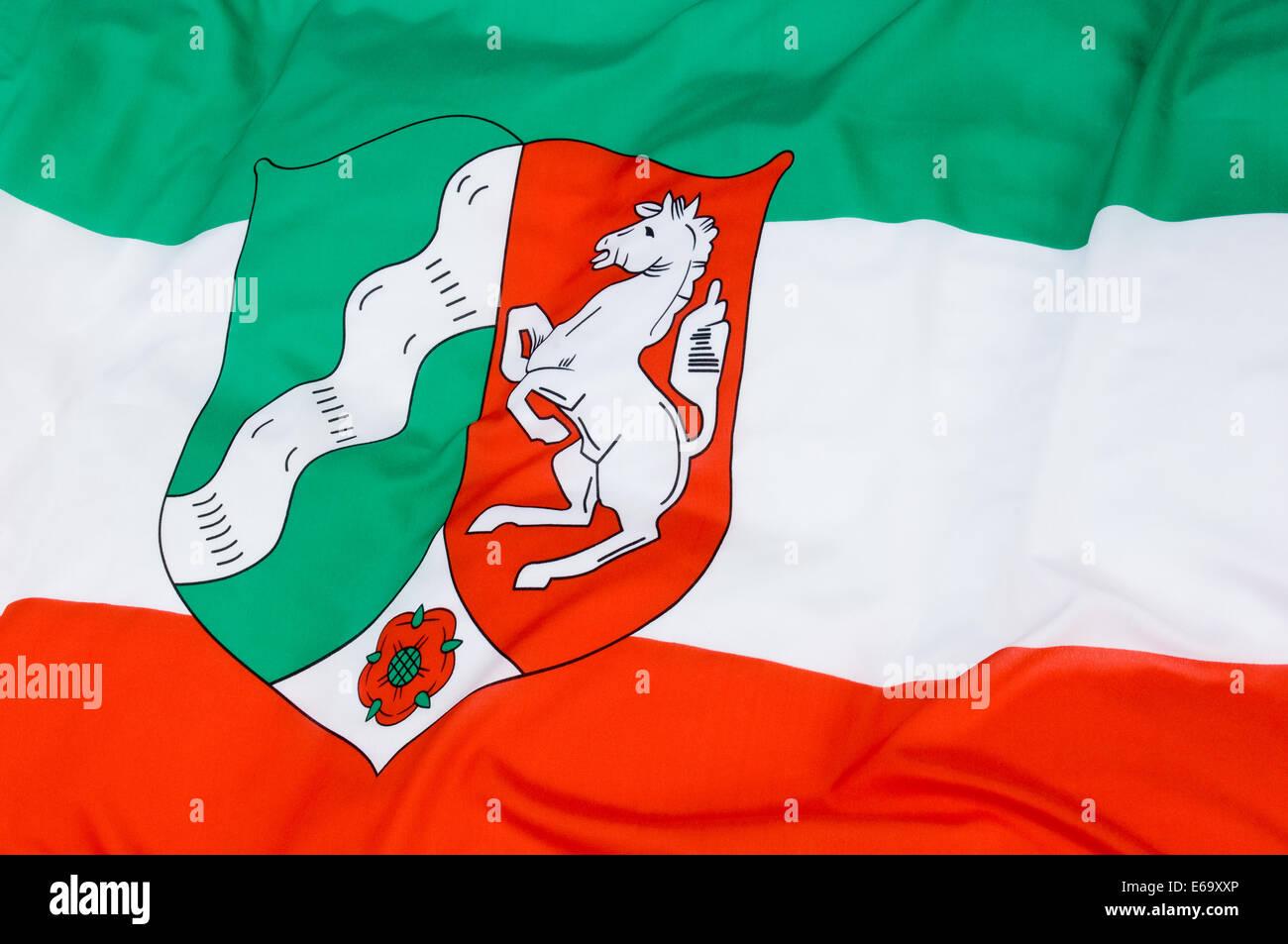state,north rhine westphalia,country flag - Stock Image