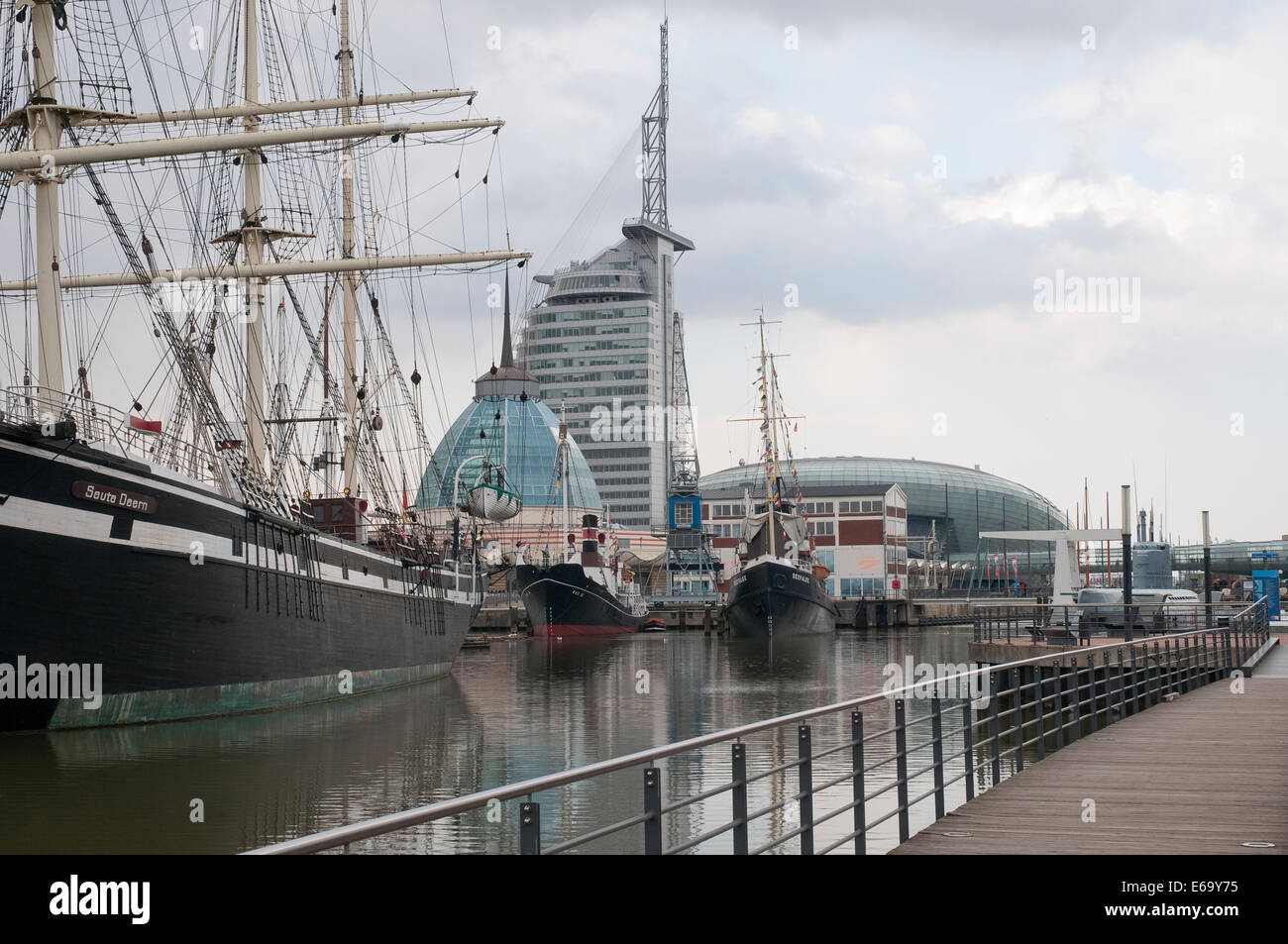 old port,sailboat,bremerhaven Stock Photo