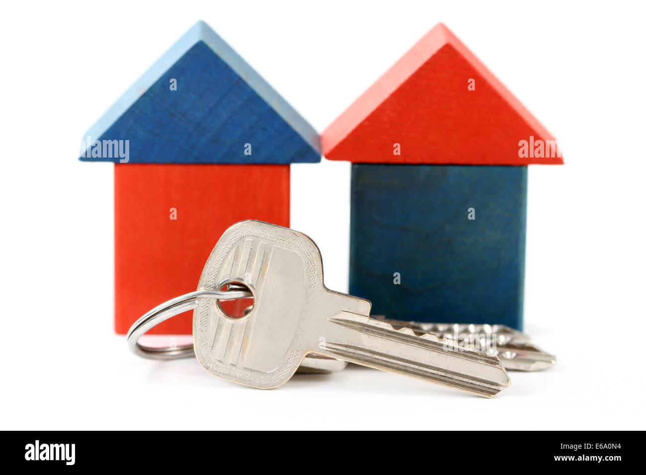 house,property,house key - Stock Image
