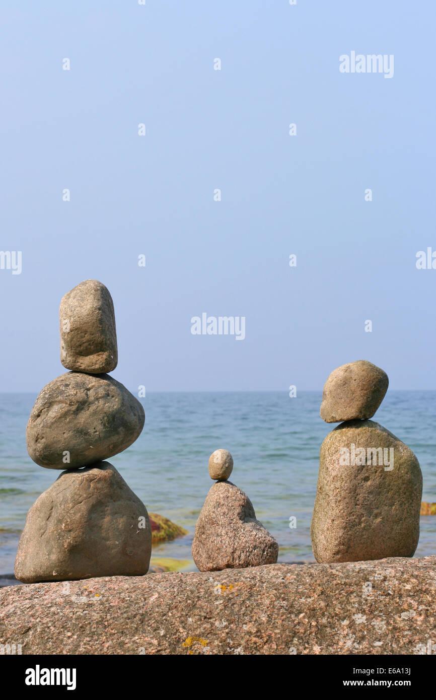 stone,stone pile - Stock Image