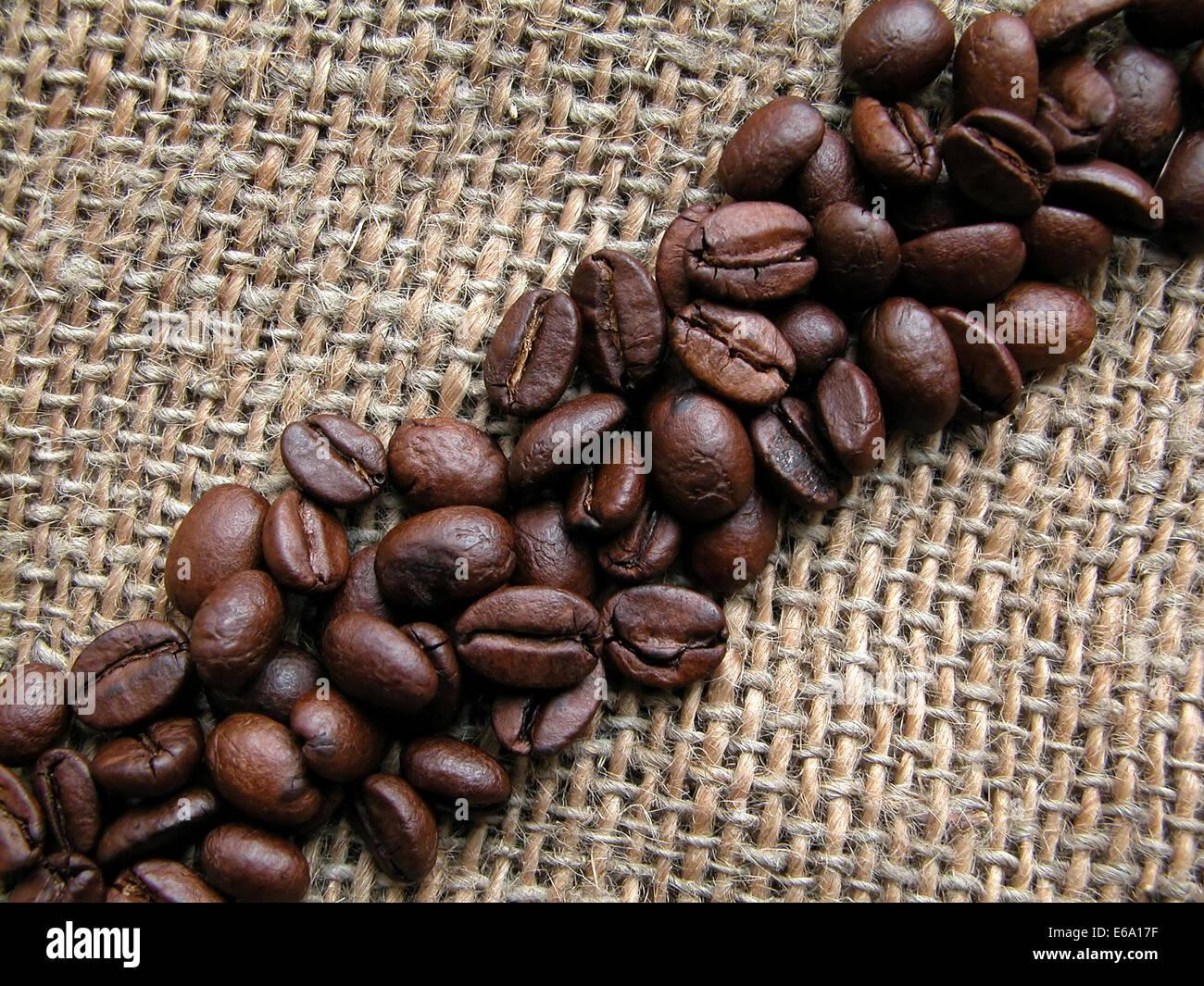 coffee bean,diagonal - Stock Image