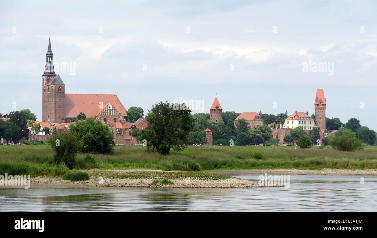castle tangermünde,tangermünde Stock Photo