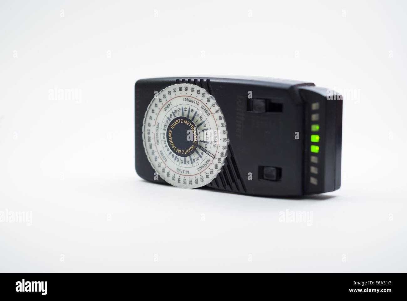 Electronic metronome, Wittner model, isolated on white background (studio shot) - Stock Image