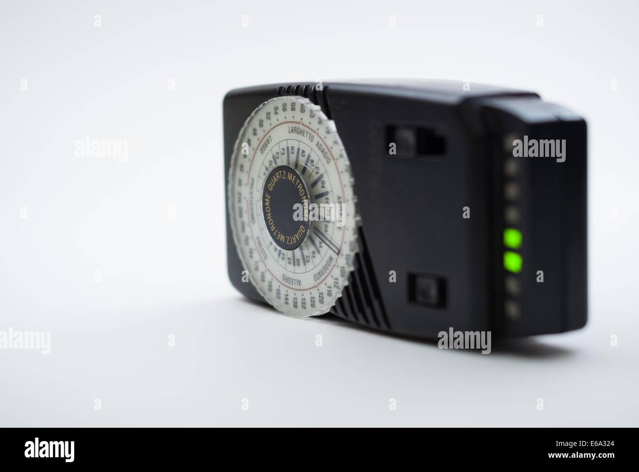 Electronic metronome, Wittner model, isolated on white background (studio shot) - Stock Image