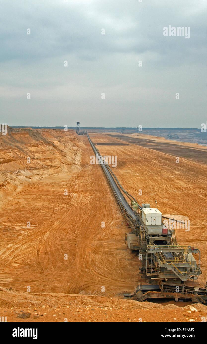 mining,opencast,hambach,open-pit mining field - Stock Image