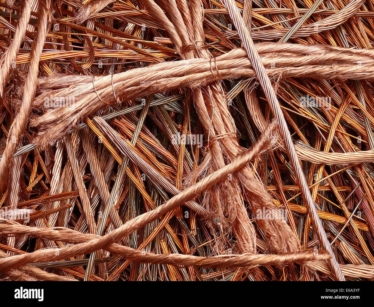 copper,copper cable - Stock Image