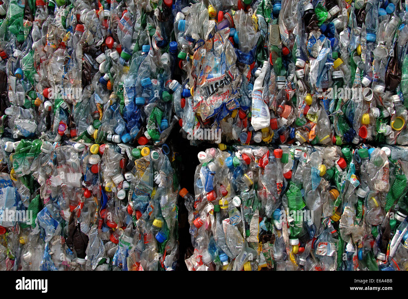 plastic,recycling,garbage - Stock Image