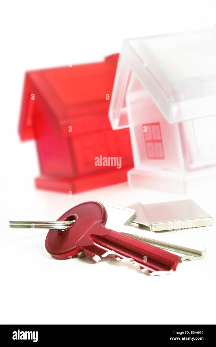 property,building construction,real estate,house key - Stock Image