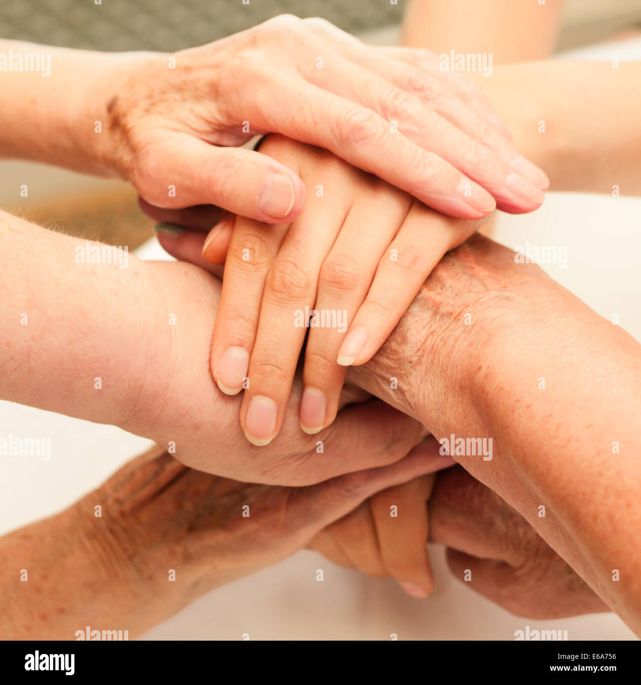 togetherness,connection - Stock Image