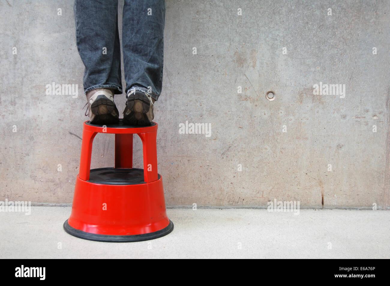 curiosity,stool - Stock Image