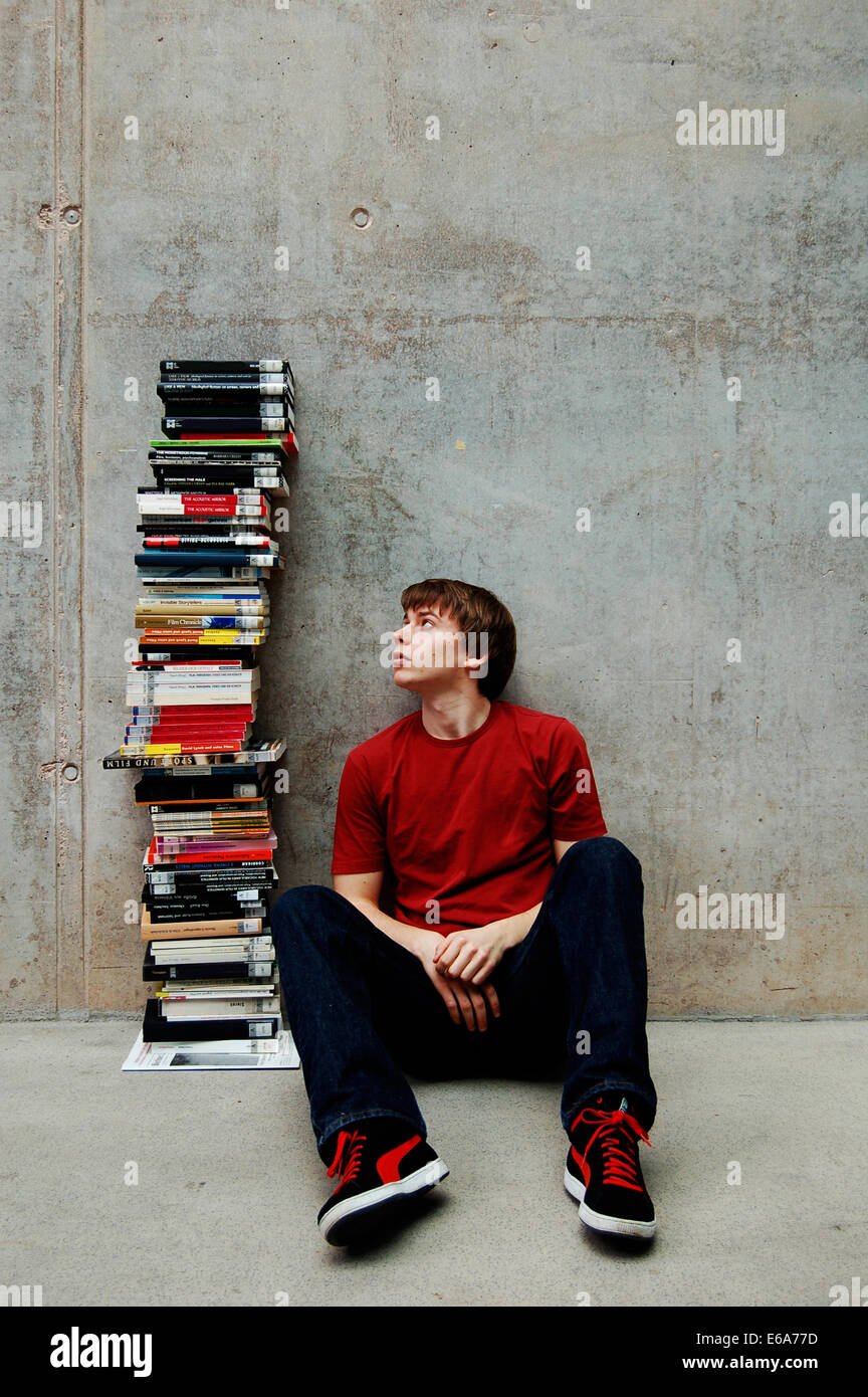 young man,education,college student - Stock Image