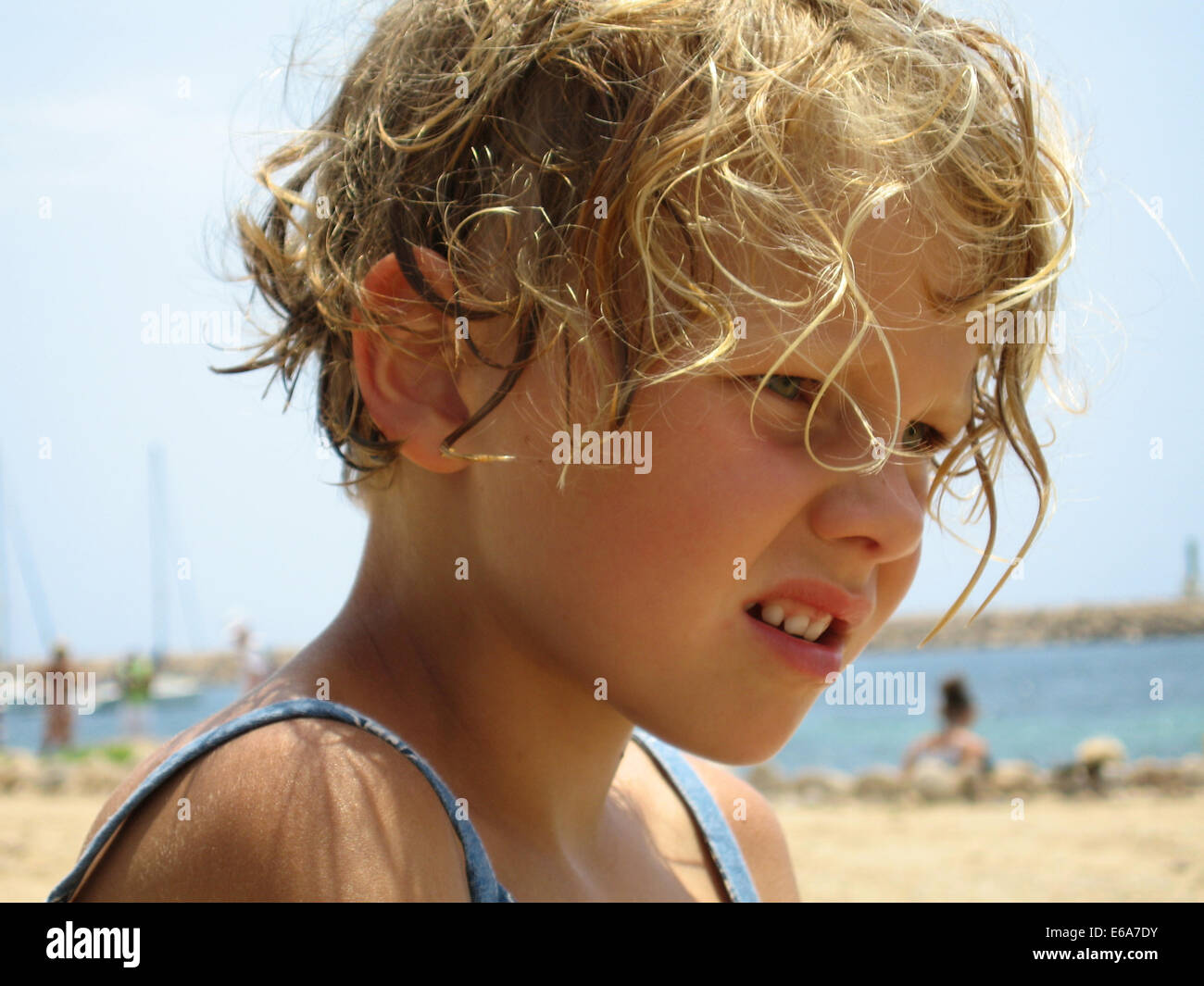 girl,beach,portrait - Stock Image