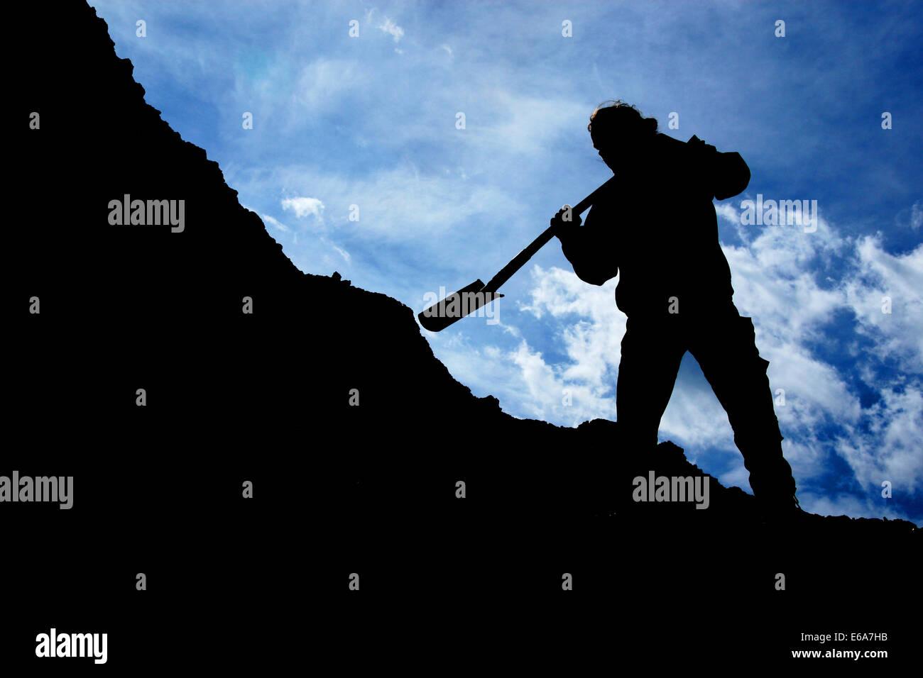 digging - Stock Image