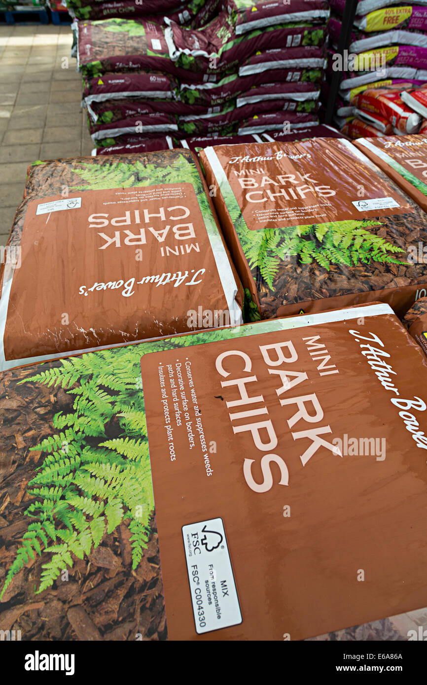 quality design special section outlet Bags of bark chips on sale at garden centre for garden use ...