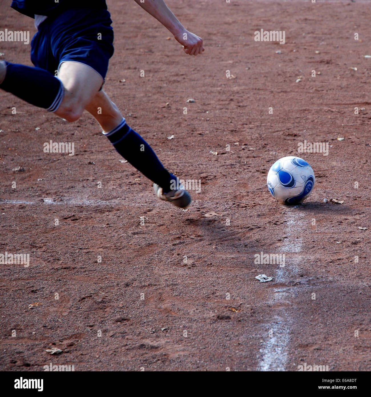 soccer,soccer player,corner kick - Stock Image