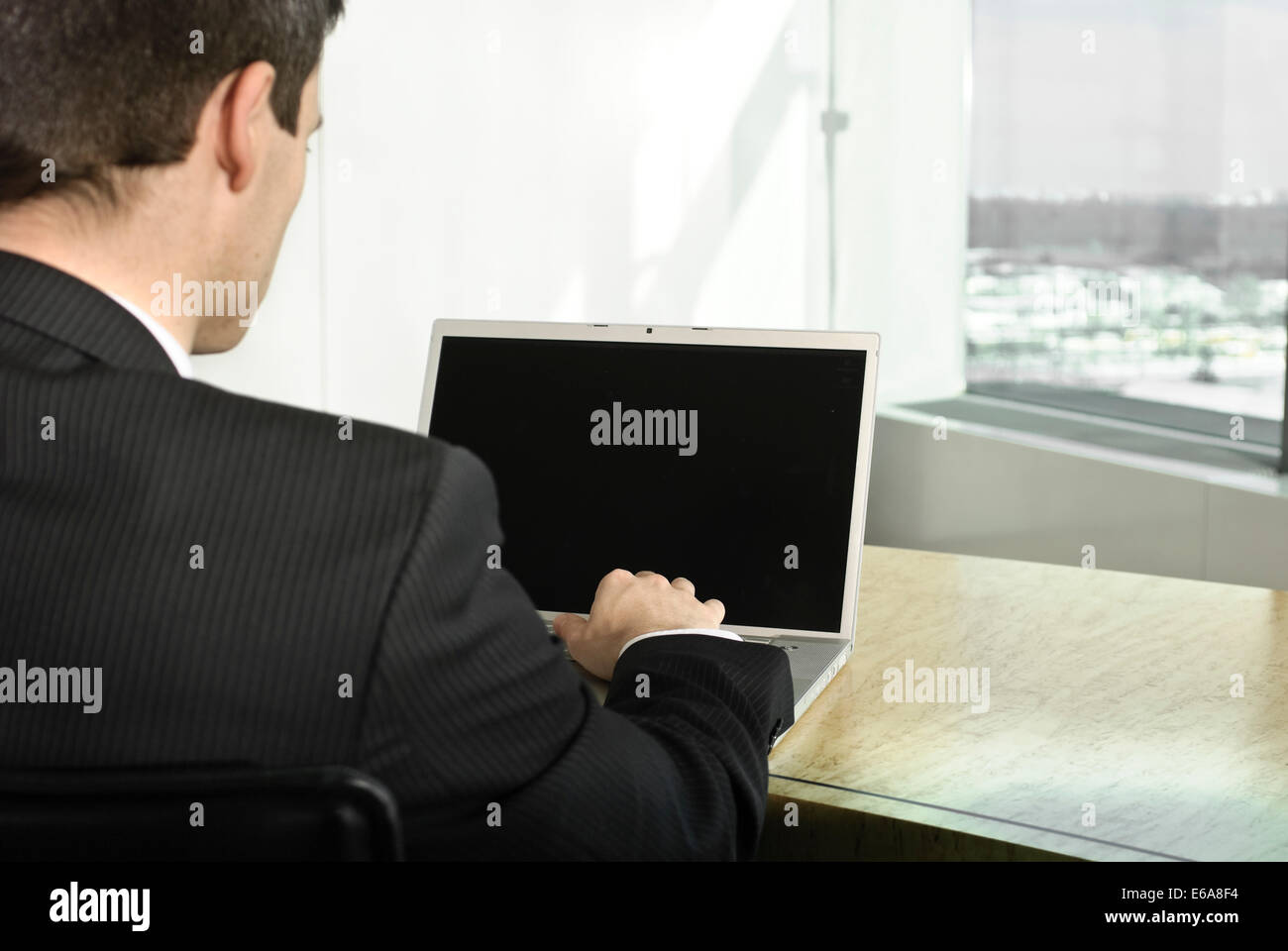 palmtop,business,office,workplace,mobile communication,businessman - Stock Image