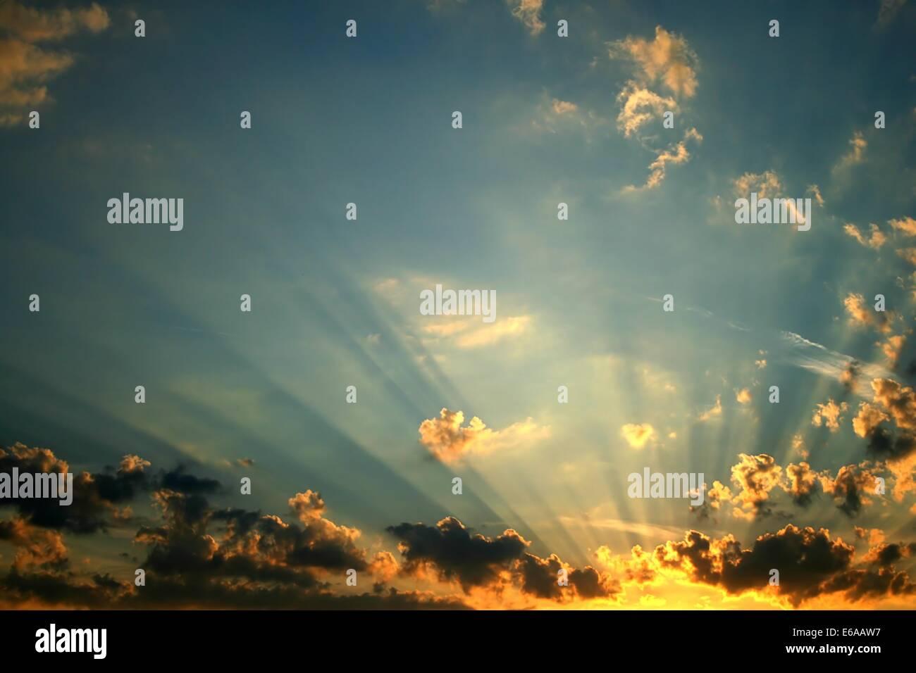 twilight,sky,cloudscape,sunlight,weather - Stock Image
