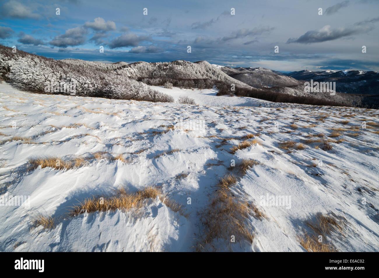 Winter atmosphere in Northern Velebit National park, Croatia. Stock Photo