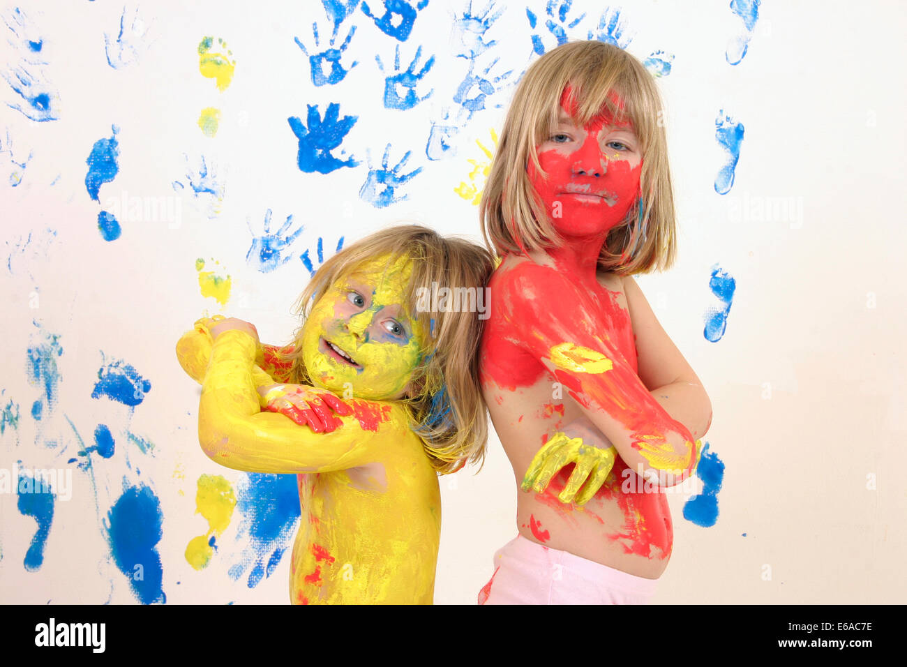 child,body paint - Stock Image