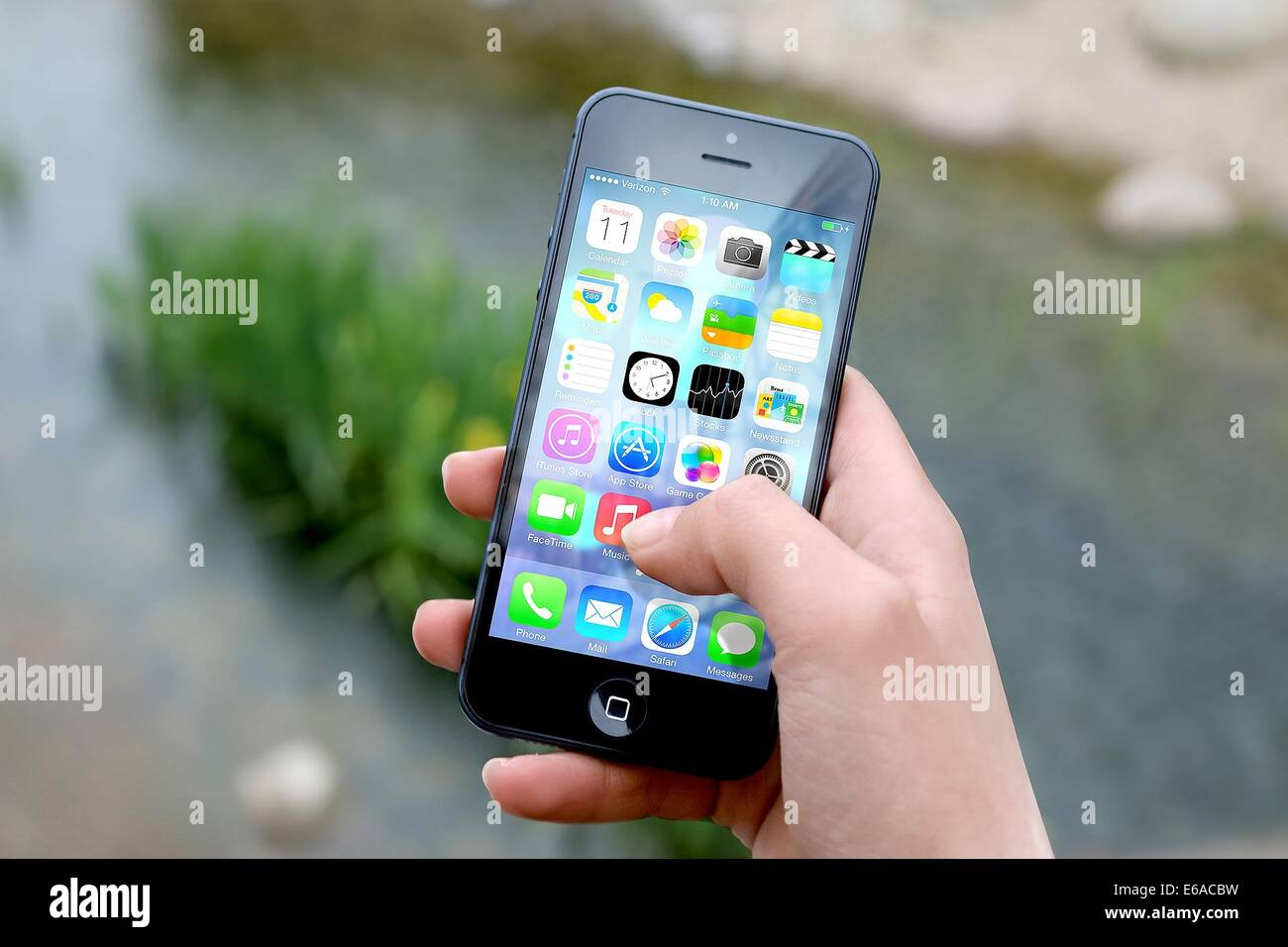 iphone smartphone apps apple inc mobile phone - Stock Image