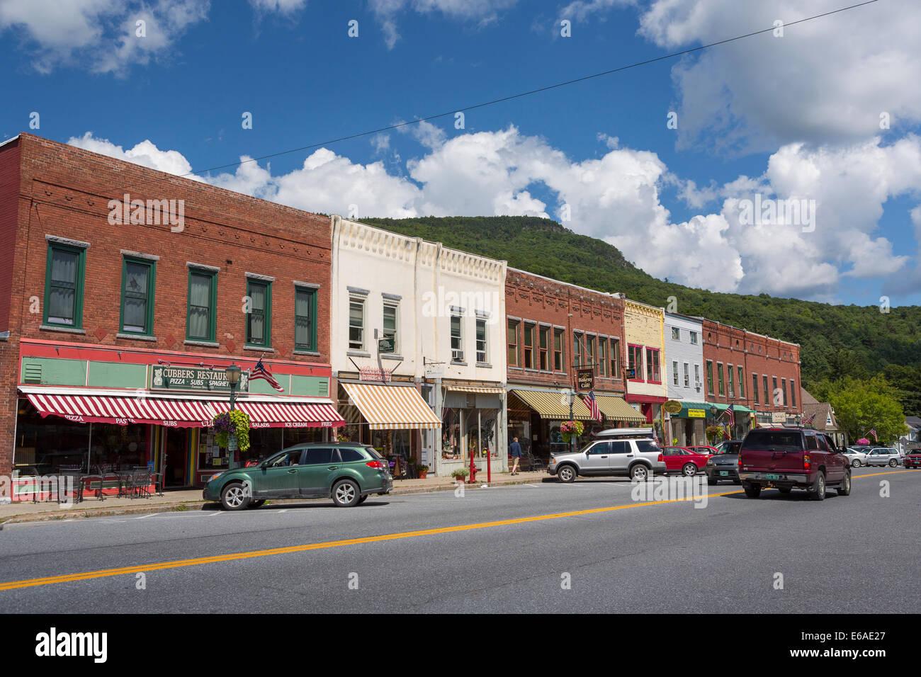 Main Street America Usa New England Stock Photos Amp Main