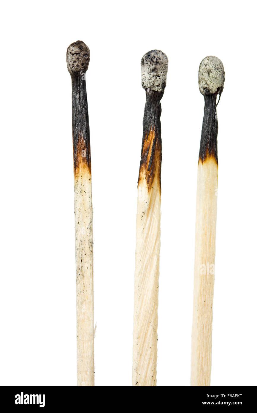 matchstick,burned,burnt - Stock Image