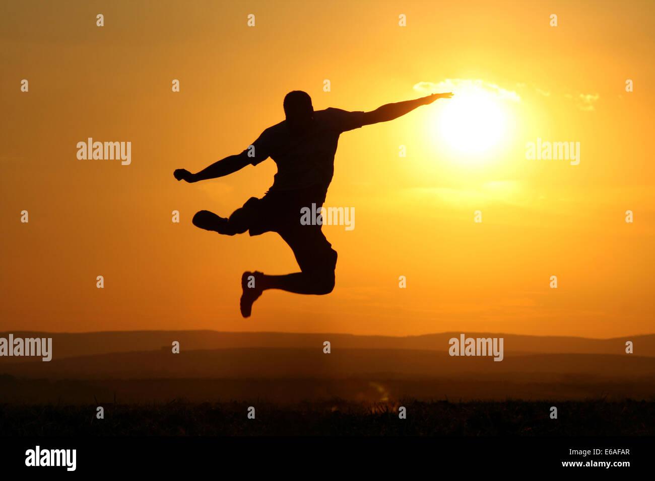 vitality,jump,jumping - Stock Image