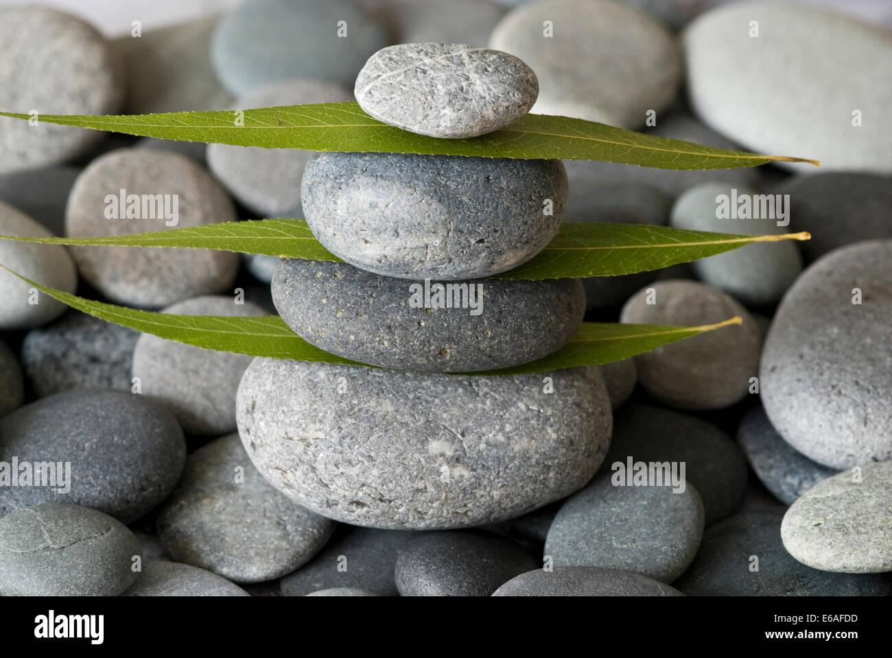 balance,stone pile Stock Photo