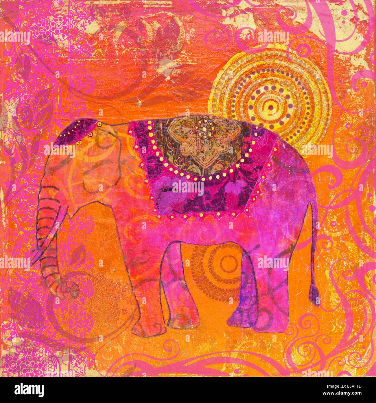 decor,elephant,indian culture Stock Photo: 72761373