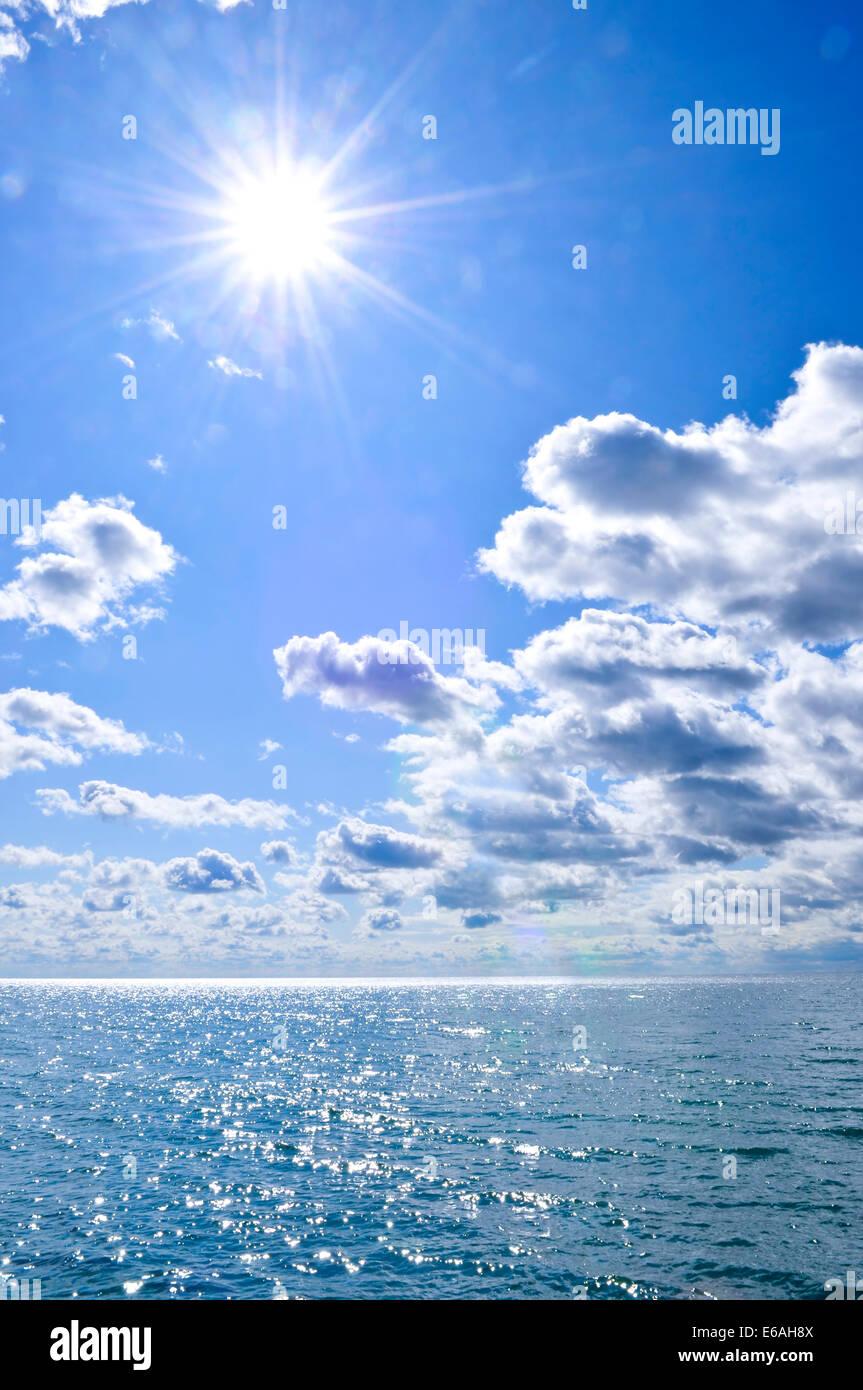 sky,cloudscape,sea - Stock Image