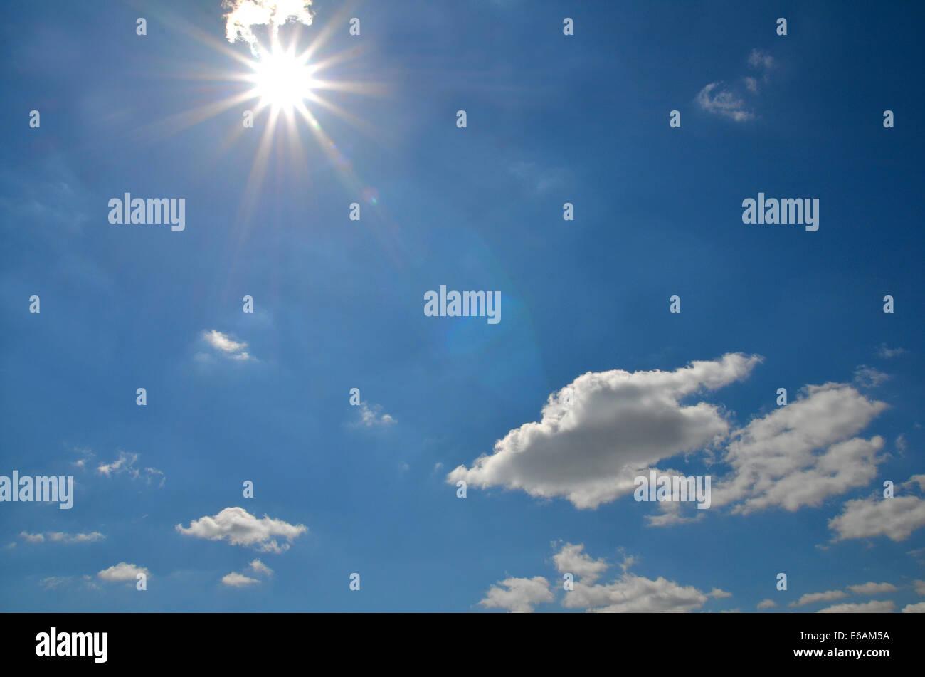 sky,cloudscape,sun,sky only - Stock Image