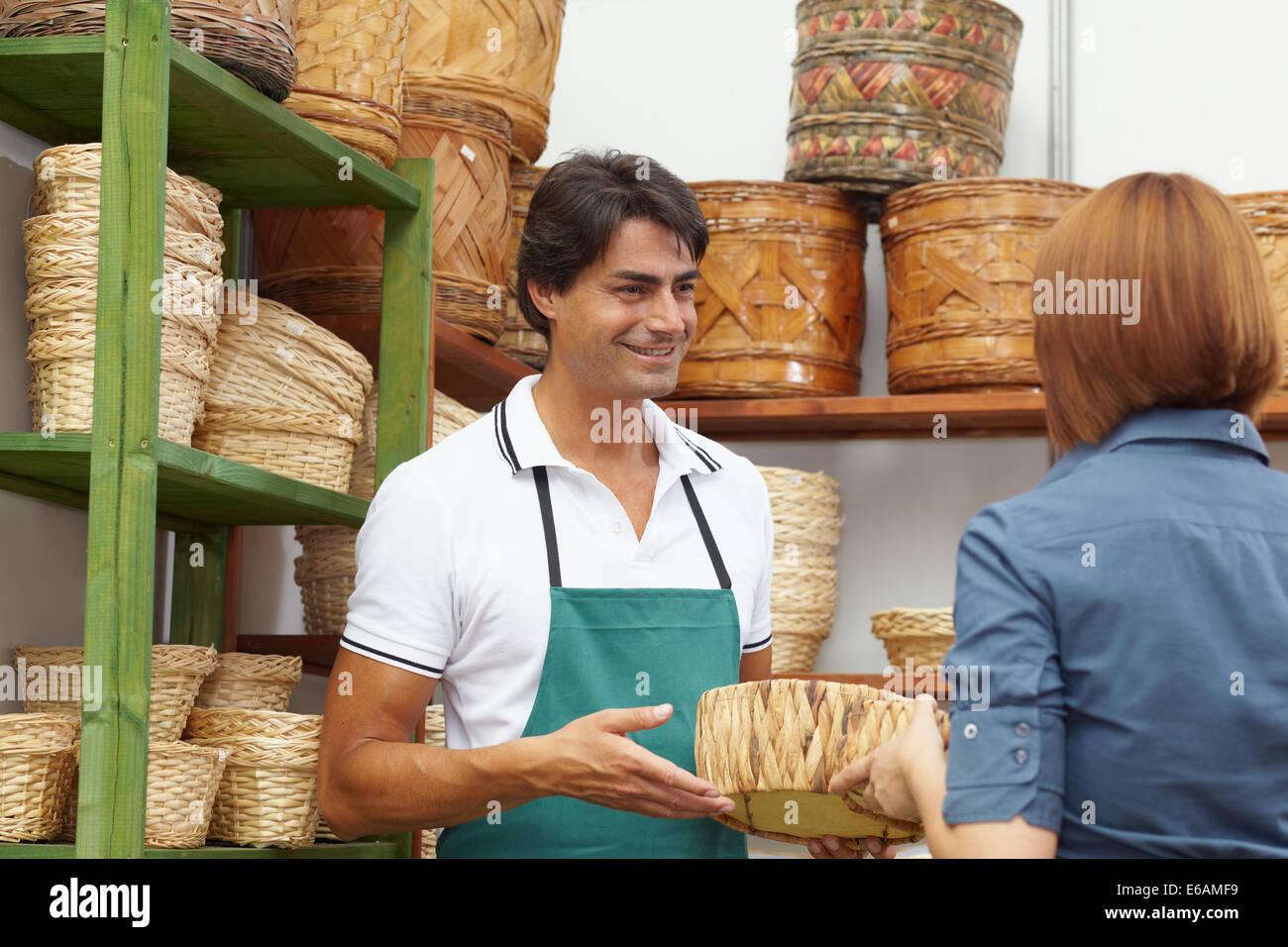 purchase,shopping,pot,sales executive Stock Photo