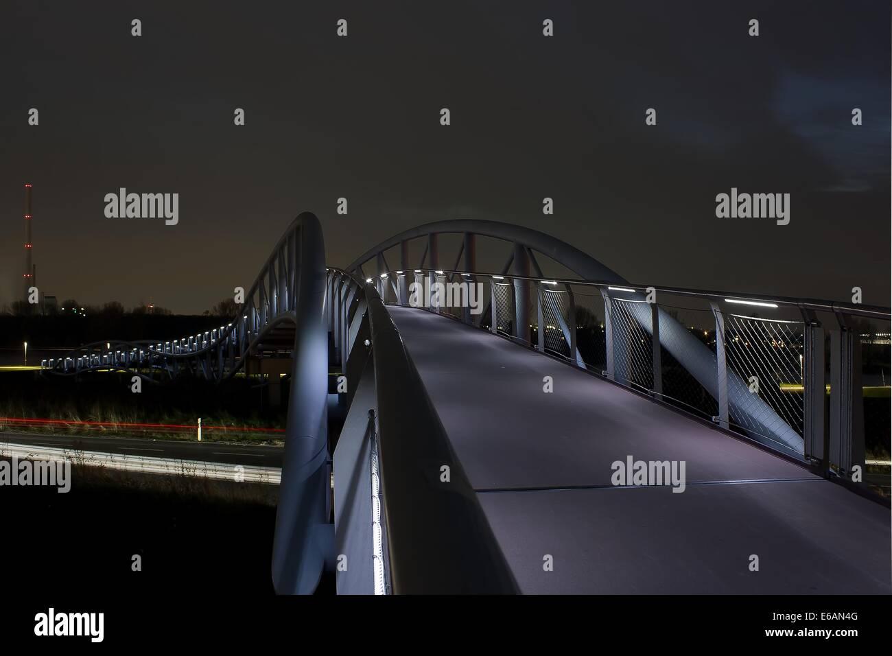 bridge,leverkusen,neulandbrücke - Stock Image