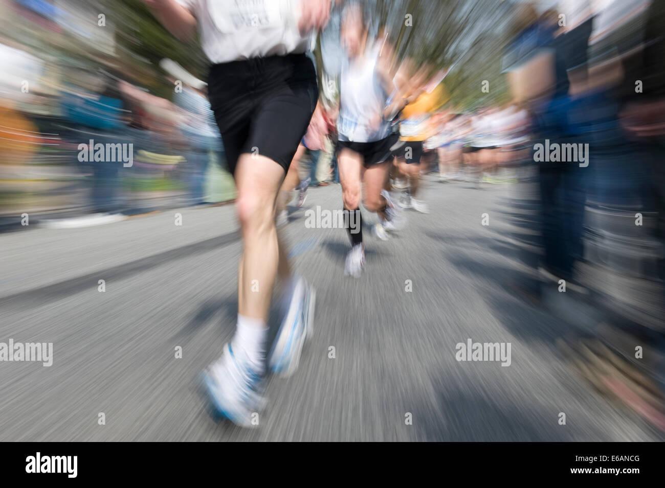 marathon,running - Stock Image
