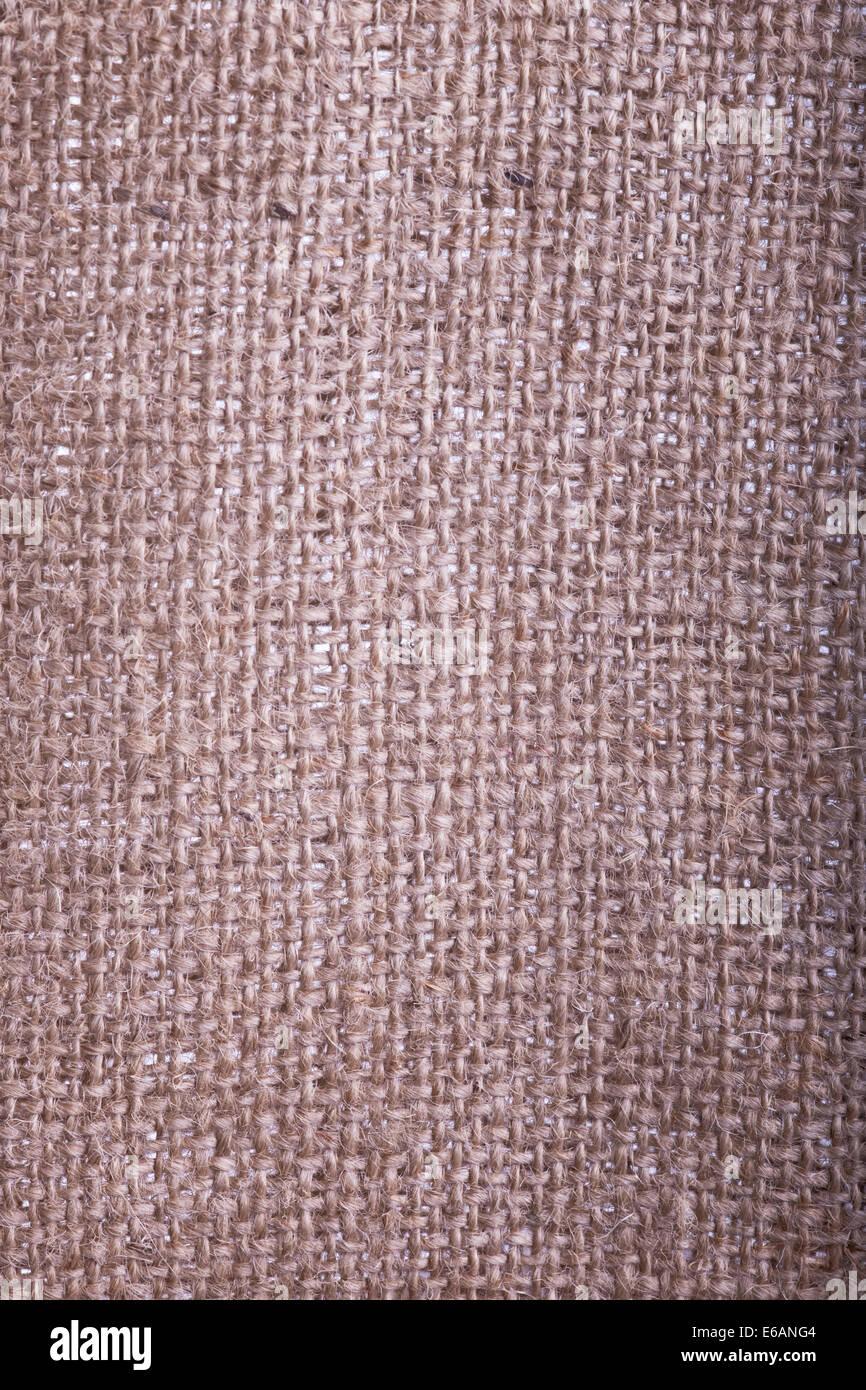 backgrounds,jute,linen bag - Stock Image