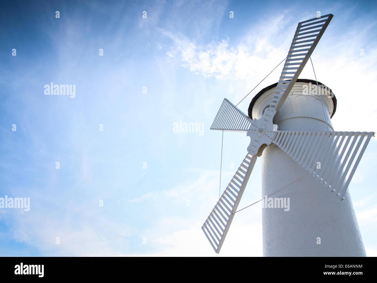 lighthouse,windmill,swinemünde Stock Photo