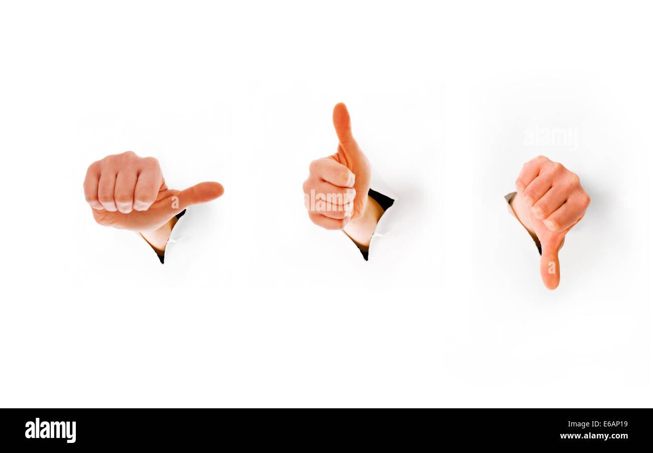 hand sign,gesture,sign language Stock Photo