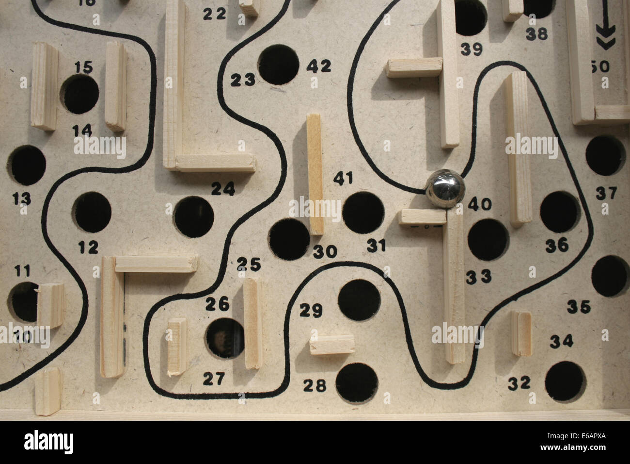 labyrinth,wooden toys - Stock Image