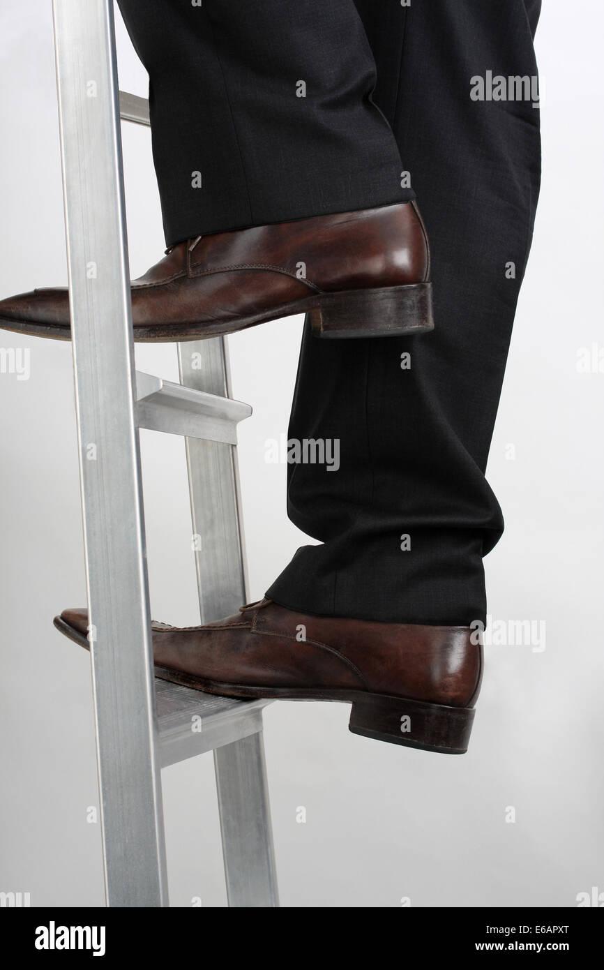 success,achievement,upward,ladder of success - Stock Image