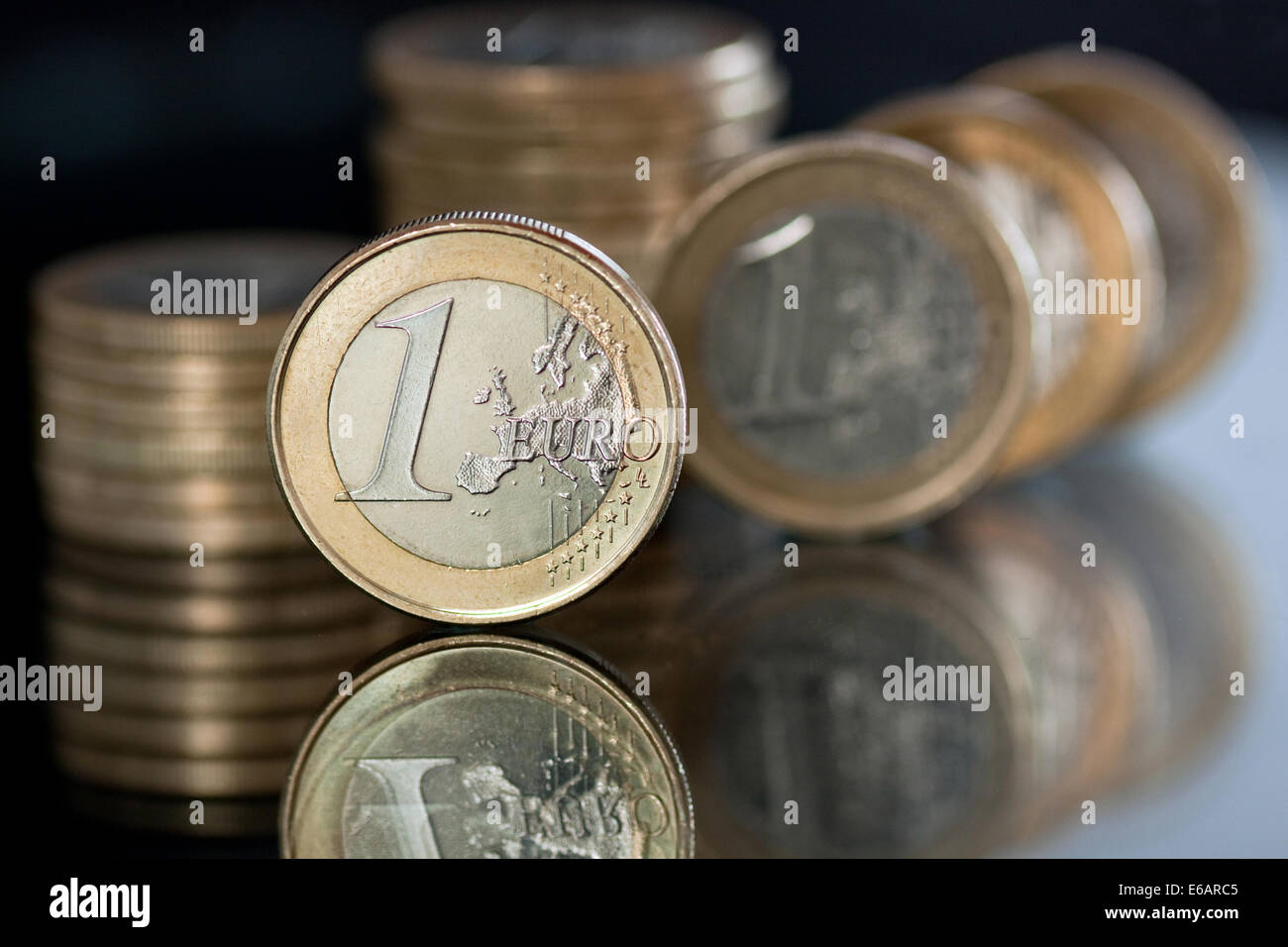 euro,coin,1 euro - Stock Image