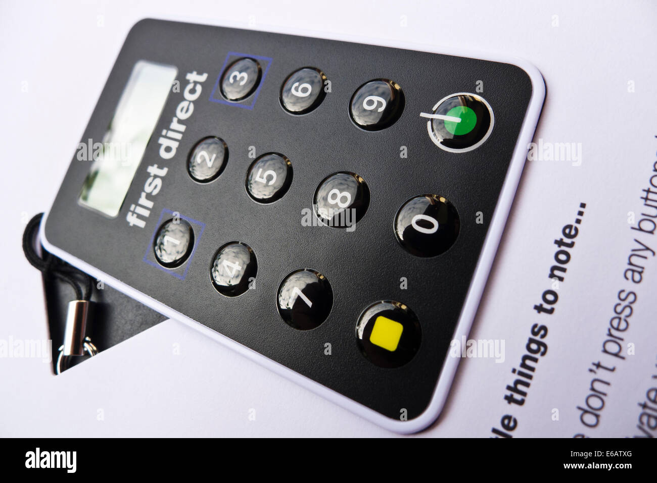 First Direct secure key for added security of online banking. - Stock Image