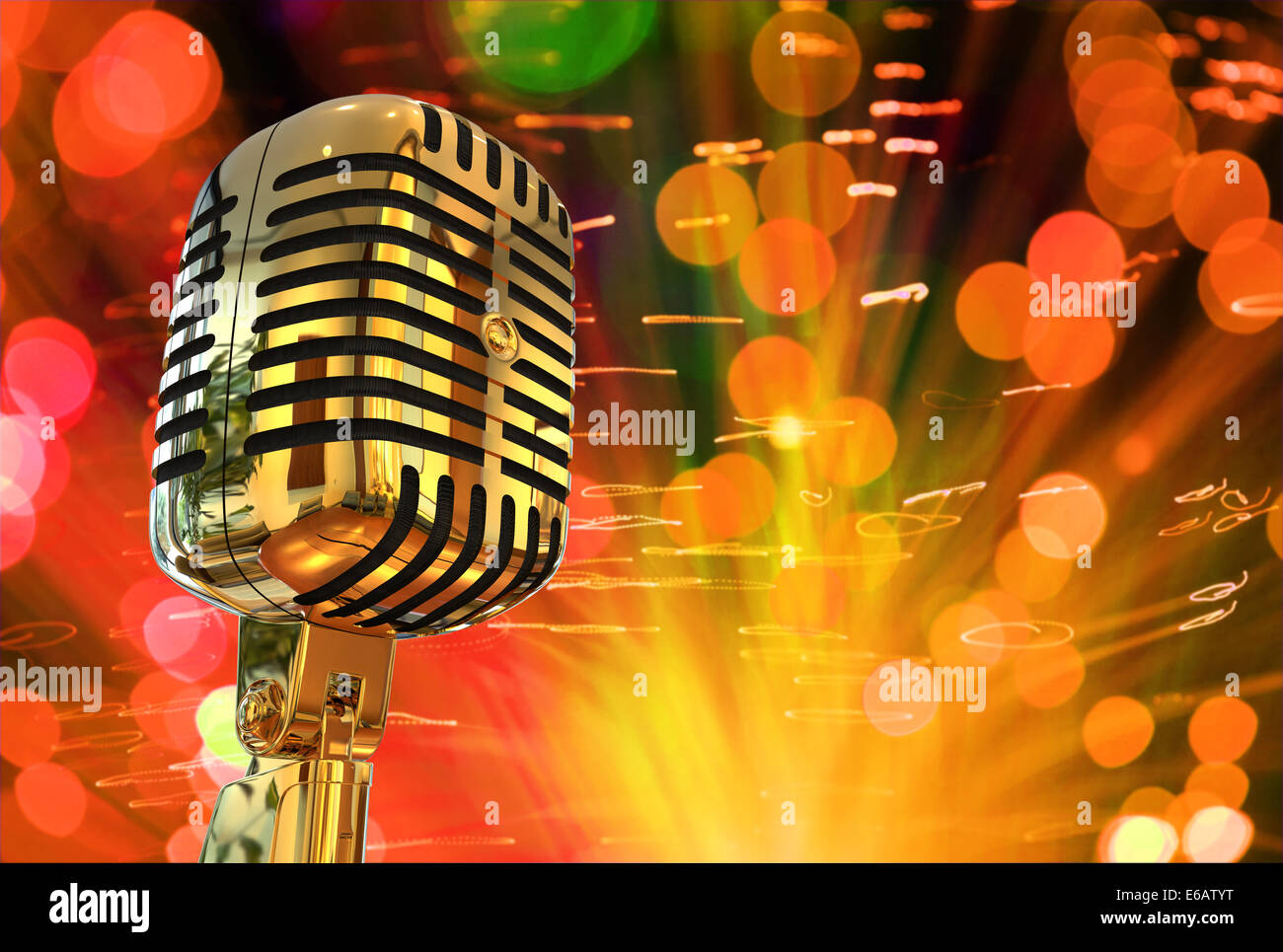 music,microphone - Stock Image